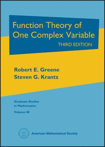 Download Function theory of one complex variable