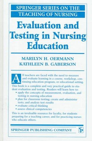 Download Evaluation and testing in nursing education