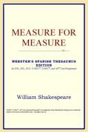 Download Measure for Measure (Webster's Spanish Thesaurus Edition)