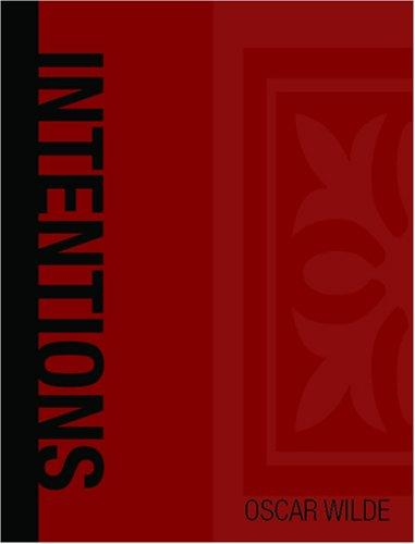 Intentions (Large Print Edition) by Oscar Wilde