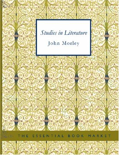 Studies in Literature (Large Print Edition)
