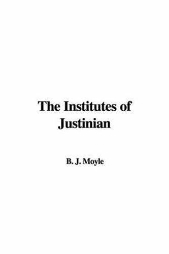 Download The Institutes of Justinian