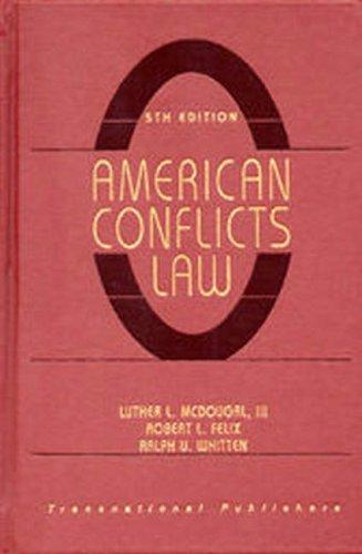 Download American conflicts law
