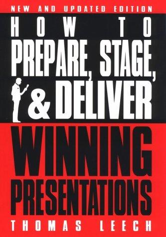 Download How to prepare, stage, & deliver winning presentations