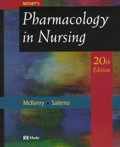 Mosby's pharmacology in nursing