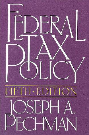 Download Federal tax policy