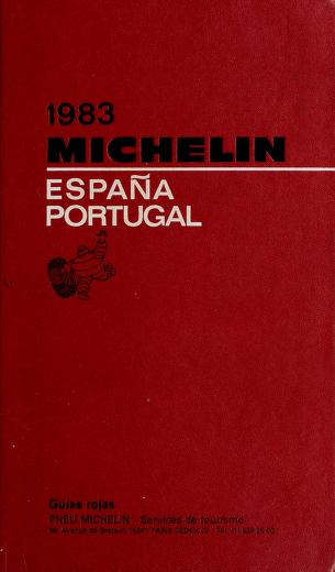 Cover of: Michelin Red, Spain-Potugual   Michelin Travel Publications