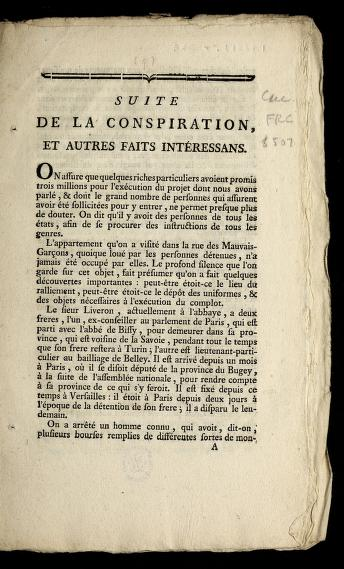 Suite de la conspiration by