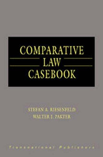 Comparative law casebook by Stefan Albrecht Riesenfeld