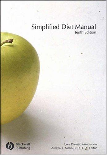 Simplified Diet Manual by Andrea Maher